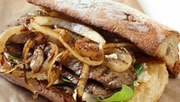 Rustic Steak Sandwiches - I love steak sandwiches done right. Make sure you get bread which is crusty but with a nice dough interior, which means you can pick it up in your hands to eat - the only way steak sandwiches were ever meant to be eaten!