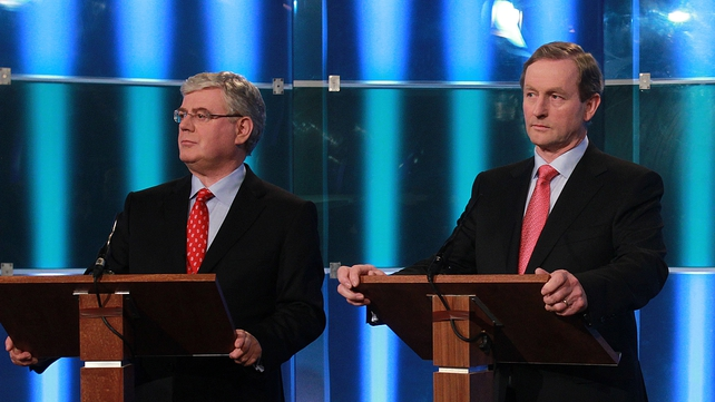 Eamon Gilmore and Enda Kenny - Held meeting this morning