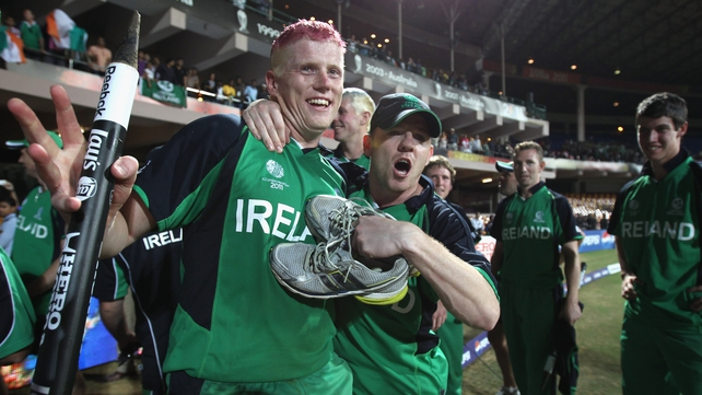 Man-of-the-match Kevin O'Brien hit the fastest hundred in World Cup history