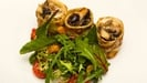 Herb Crepe with Mushrooms and Knockdrinna Goats Cheese