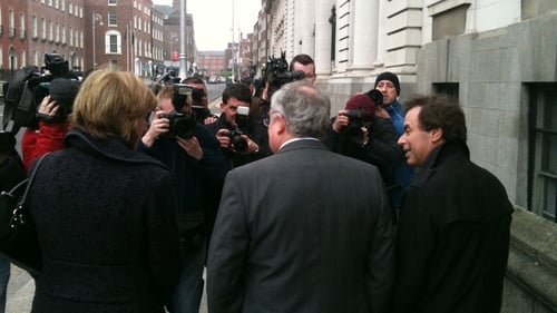 Joan Burton, Pat Rabbitte and Alan Shatter - Part of Labour and Fine Gael negotiating teams