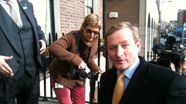 Enda Kenny - Arrives for the Fine Gael Parliamentary Party meeting in Dublin