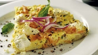Smoked Salmon and Cream Cheese Frittata - Quick, easy and special!