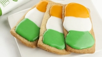 Irish Flag Biscuits - Celebrate our national day with these tri-colour biscuits!