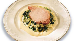 Traditional Bacon and Cabbage with Mustard Sauce