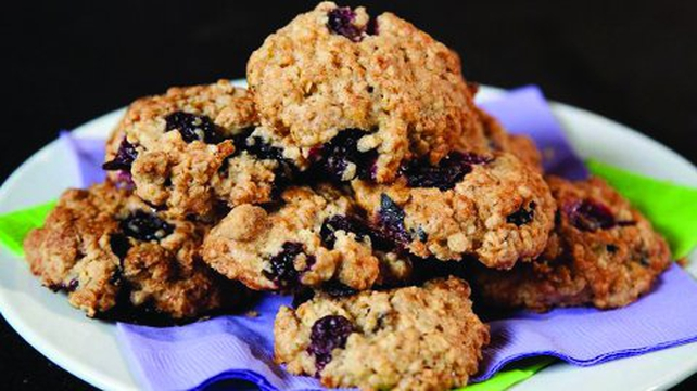 Soft 'n' Chewy Blueberry Oat Cookies