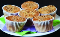 Apple Crumble Muffins - Looking for a healthy option to have with your 11 o'clock cuppa, what not give these yummy muffins a try. Great for the kids' lunchbox too.