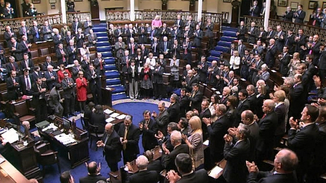 31st Dail - Standing ovation for the new Taoiseach