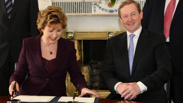 Enda Kenny - Elected as the country's 13th Taoiseach