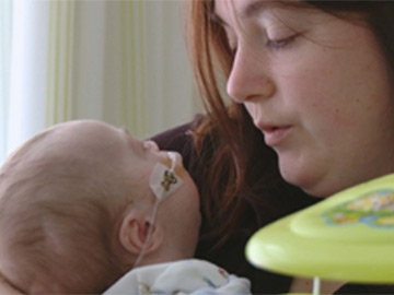 Series One: Sarah O'Brien and baby Callum
