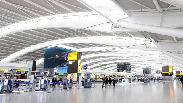 Flights to and from Heathrow Airport were cancelled or delayed