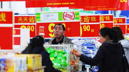 Chinese consumer prices rose by 2.1% in March, down from rise of 3.2% in February