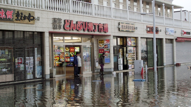 Japan - Water has inundated several towns along the northeast coast