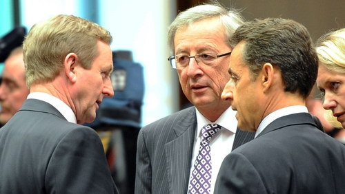 Enda Kenny - Financial crisis meeting in Brussels