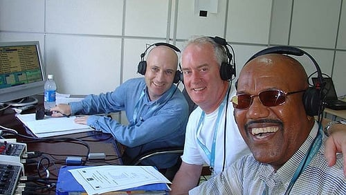 Kevin Mitchell BBC Radio 5, John Kenny and West Indian legend Colin Croft commentate on Ireland v Sri Lanka in Grenada at the 2007 Cricket world cup
