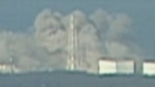 Fukushima - Walls and roof reportedly destroyed in blast