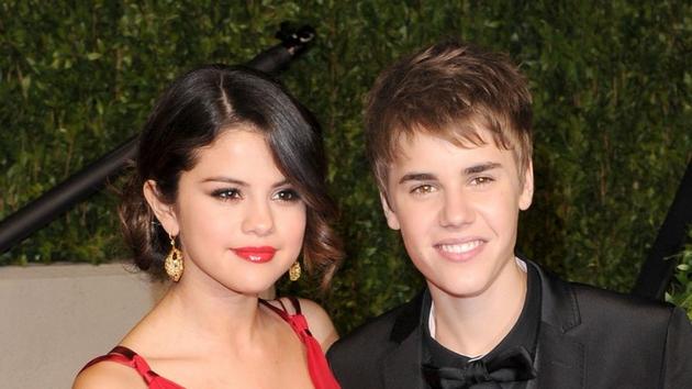 Selena Gomez with her boyfriend Justin