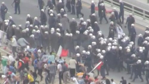 Bahrain - Clashes during pro-democracy demonstrations