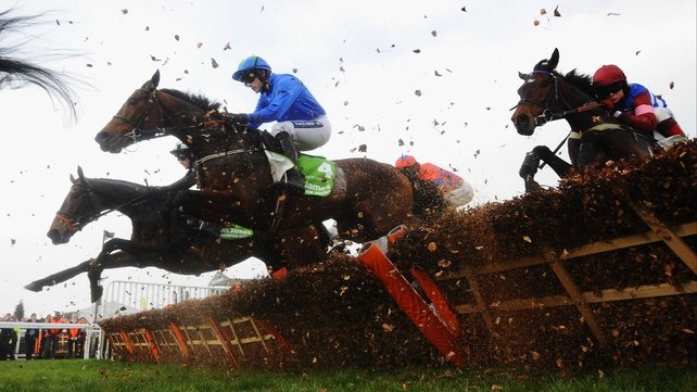 Hurricane Fly jumped smoothly throughout to come from the back of the field and hit the front when it mattered