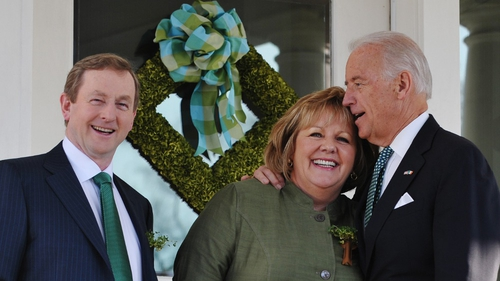 Enda and Fionnuala Kenny meet US Vice President Joe Biden