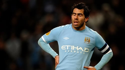Carlos Tevez returned to Manchester City colours on Tuesday