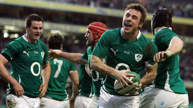 ...and Tommy celebrates his 17th try for Ireland