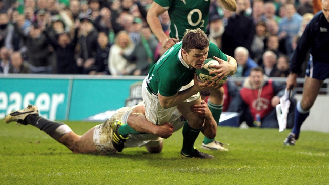 ...the try (plus Sexton's conversion) put Ireland into a 24-3 lead...