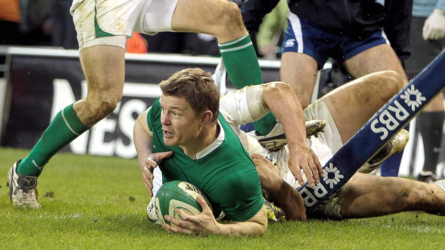 ...and made Brian O'Driscoll the highest tryscorer in the history of the championship with 25