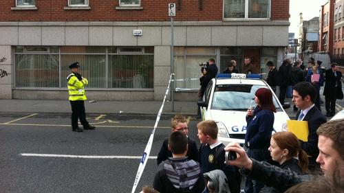 North Brunswick Street - Part of the street was blocked off