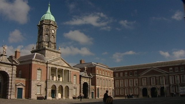 Dublin Castle - where the inauguration is taking place