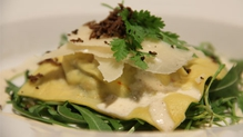 Ravioli with Ceps and Black Truffle Shavings