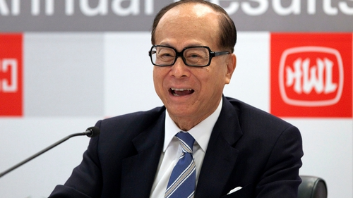 Hong Kong billionaire Li Ka-shing's Hutchison Whampoa reports 20% rise in profits