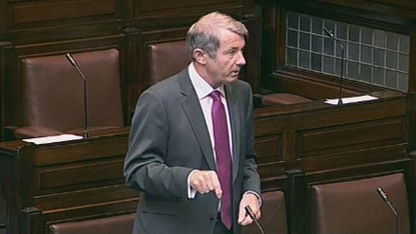 Michael Lowry - Cut a lonely figure during Moriarty Report debate