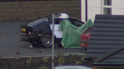 Omagh - Policeman's car destroyed