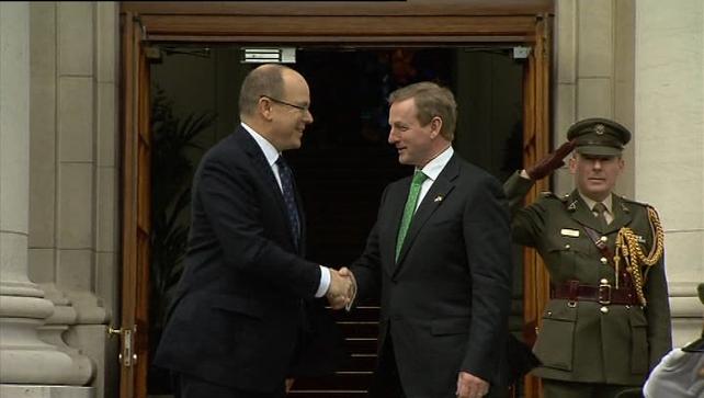 Prince Albert II met the Taoiseach today