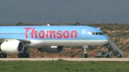Thomson Airways plane - All passengers and crew said to be safe
