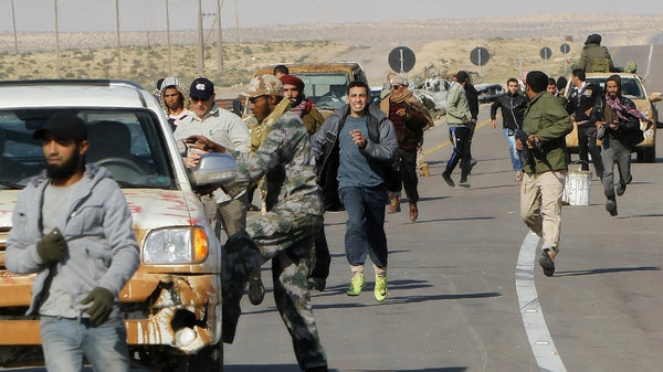 Libya - Rebels are trying to take control of Brega