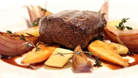 Roast Canon of Venison with a Natural Jus and Roast Root Vegetables - A simple roast, what could go wrong?