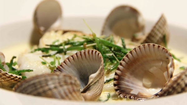 Pan Seared Brill with Samphire and Cockles: Marty Morrissey