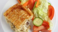 Fish Pie - Any mixture of fish may be used. Salmon and smoked salmon may be used with white fish - cod, haddock or hake.