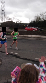 Photo of road race in Omagh hours before PC Kerr's black Mondeo (in background) was bombed