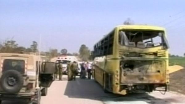 Israel - School bus struck by missile