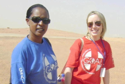 Goal Workers Hilda Kawuki and Sharon Commins