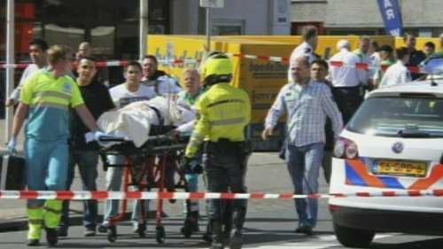 The Netherlands - Injured victims taken from scene