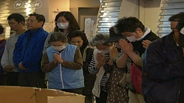 Japan - One minute silence is observed across the nation