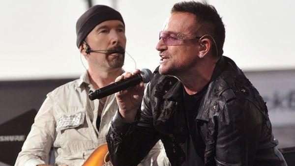 Bono and The Edge meet Elvis