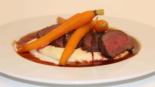 Roast Loin of Wild Irish Venison with Parsnip Puree and Baby Carrots: The Restaurant