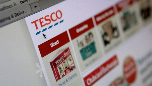 Tesco limits online shop to 80 items in UK