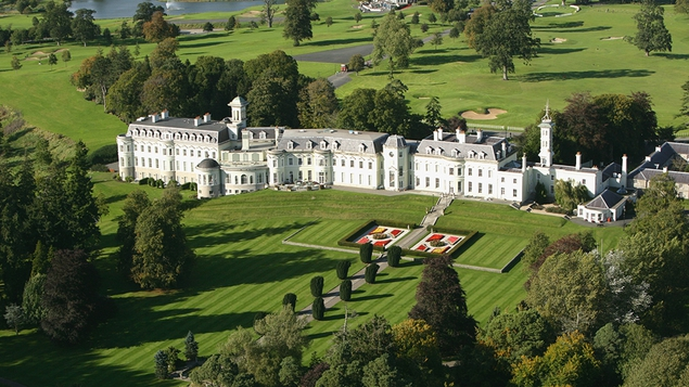 The K Club estate rolls out in all directions to the tune of 550 acres of Co Kildare countryside