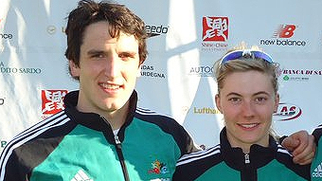 Natalya Coyle and Eanna Bailey of the Modern Pentathlon team
